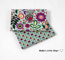 Beautiful Vera Bradley 100% Cotton Fabric(Viva la Vera)——2 Matching Fat Quarters