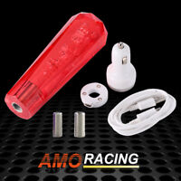 20cm Crystal Bubble AT/MT Car Shift Knob Gear Stick Shifter Lever Head Red
