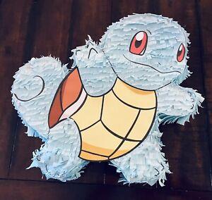 Pokemon Squirtle | Hand Made Medium Size Piñata | Birthday Party Pinata