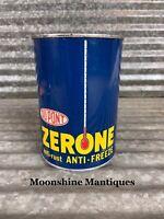 1950's DUPONT ZERONE 1 quart Anti-Freeze Can - Gas & Oil