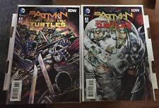 Batman Teenage Mutant Ninja Turtles #3 1st Print Regular Cover And 1:50 Variant