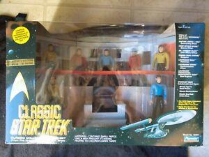 STAR TREK Classic Bridge Collector Figure Set Playmates Limited Edition 1993