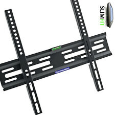 """Fixed Universal Slimline LED LCD TV Wall Mount Bracket For Up to 55"""" Screens"""