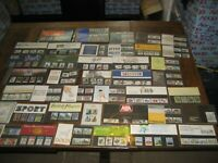 40 X ROYAL MAIL / POST OFFICE SETS / NEW JOB LOT MIXED VINTAGE STAMP COLLECTIONS