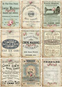 Decoupage-Bastelpapier-Softpapier-Vintage-Nostalgie-Nähen-Sewing-12392