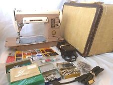 Singer 301A Sewing Machine with Case Manual Pedal Zigzagger Feet +More WORKING