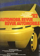 Automobil Revue Automobile 1982 • Catalogue Number • GOOD