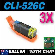 3x Cyan Ink for CANON CLI-526C for iP4850 iP4950 iX6550 MG5150 MG5250 MG5350