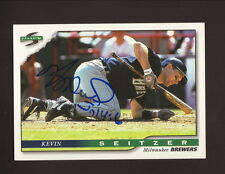 Kevin Seitzer--Autographed 1996 Score Baseball Card--Milwaukee Brewers