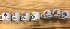 NHL STANLEY CUP CRAZY MINI MUGS- Devils, Stars, Canadiens, Maple Leafs, Oilers