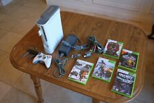Microsoft Xbox 360 White Console 60 Gb, 512 Mb, Wireless Adapter, 5 Games, etc.