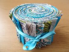 JELLY ROLL STRIPS 100% COTTON PATCHWORK FABRIC FLORAL SKETCH 40 PIECES