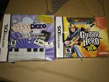 Easy Piano & guitar Hero on Tour game & controller bundles  Nintendo ds lot new
