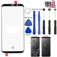For Samsung Galaxy S9 Plus S8 Plus Screen Glass Lens Front Replacement Tools Kit