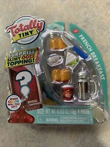 NEW Totally Tiny French Breakfast Surprise Slimy Ooze Topping 9 Pieces Mini Food
