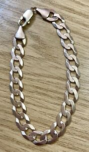 """9ct Yellow Gold Curb Link Bracelet 8.5"""" Long"""