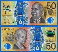 Australia 50 dollars 2018 Prefix HE Polymer Cowan Unaipon Free Shipping Worldwid