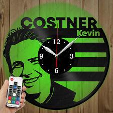 LED Vinyl Clock Kevin Costner LED Wall Art Decor Clock Original Gift 4623