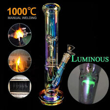 "Colorful Hookah Water Pipe Glass Vase Tobacco Pipe Smoking Filter Pipe Bongs 12"""