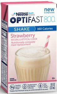 OPTIFAST® 800 READY-TO-DRINK SHAKES | STRAWBERRY | 1 CASE | NEW & FRESH