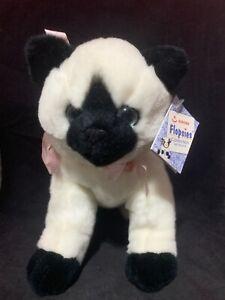 "Siamese Cat Kitten Plush Aurora Flopsies Bean Filled Stuffed Animal 8"" x 10 1/2"""