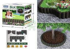 Bordura bordatura aiuola per giardino orto incolore finto legno lunghezza mt 4,6