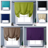 Thermal Drapes Curtains Tie Up Insulated Shades Kitchen Short Blackout Grommet