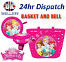 Disney PRINCESS Girl Kids  Bike Cycle Shopping Front BASKET and BELL Ring Alarm