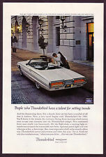 1964 Original Vintage Ford Thunderbird Convertible Car Photo vintage print ad