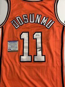 Ayo Dosunmu Signed Jersey PSA/DNA COA Illinois Fighting Illini Adult L Large