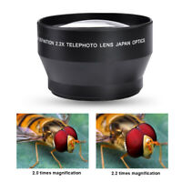 67mm 2.2X Universal Teleconverter Telephoto Zoom Lens for DSLR Cameras Accessory