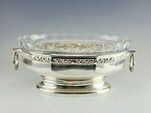 Huge Gorgeous 19CAntique Silver Crystal German Koch & Bergfeld Centerpiece Bowl
