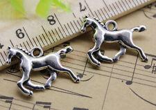 Free Shipping 20pcs Jewelry Making DIY Horse Alloy Charm Pendant 14x22mm