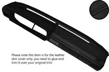 BLACK STITCHING DASH DASHBOARD REAL LEATHER COVER FITS VW SCIROCCO MK1 74-80