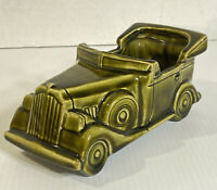 Vintage McCoy Pottery Floraline Automobile Car Planter Green Convertible