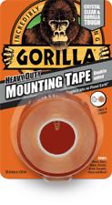 Gorilla Heavy Duty Mounting Tape Double Sided Weatherproof Crystal Clear Fix