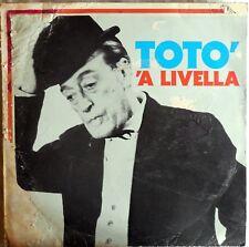 VINILE LP 33 GIRI RPM TOTO A LIVELLA PL551 ITALI 1981