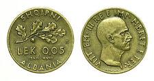 pcc1561_4)  Albania Vittorio Emanuele III 0,05 Lek 1940 KM 27