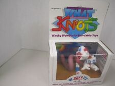 "1986 What Knots - ""Wacky"" - Pose 'Em - Shape""Em - Change ""Em - Bendable Toys"