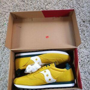 SAUCONY JAZZ ORIGINAL S2044-330 Yellow/green/white Sneaker Mens Sz 12 With BOX