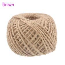 50m Natural Burlap Hessian Jute Twine Cord Hemp Rope String Gift Packing Strings Brown