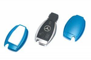 Für Mercedes Key Cover Schlüssel Cover Funk Fernbedienung Case Abdeckung Blau