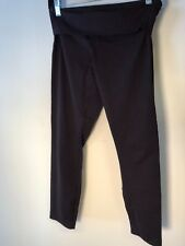 LULULEMON Wunder Under Pants wide flip waist Sz 6 Black / black dots Bin-K