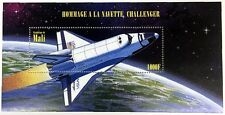 1996 MALI SPACE STAMPS SOUVENIR SHEET CHALLENGER SPACE SHUTTLE