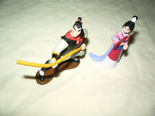 """ 2 FIGURINES MULAN DISNEY 7 / 7.5 CM"