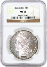 Random Year (1878 - 1904) $1 Morgan Silver Dollar NGC MS66