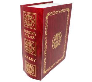 Geldkassette als Buch getarnt , Europa Atlas Zylinderhebelschloss 2182/1