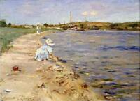 William Merritt Chase Beach Scene Fine Art Print on Canvas Giclee Repro Small