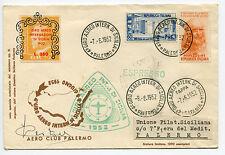 4° Giro Aereo di Sicilia - Aerogramma da Palermo