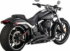 Vance And Hines Exhaust Black Big Radius 2 Into 2 For Harley 2013-2017 Breakout